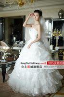 Wholesale 2014 New Sweet Princess Lace Wedding Formal Dress Red white round neckline strap style wedding dresses