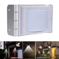 Wholesale 16 LED Solar Power Outdoor Yard Garden Wall Sound Sensor Activated Light Lamp
