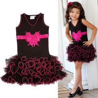 Wholesale Hot Sale new Arrival Summer Girls Dress Girls bow short sleeve V neck dress princess tutu dress vest cake