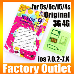 Wholesale Newest R SIM AUTO Unlock ALL iPhone5C C S G S R SIM pro I OS IOS7 X RSIM PRO Docomo AU Sprint Verizon T MOBILE