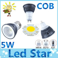 Wholesale Energy Saving COB W Led GU10 spot bulbs lights E27 E26 E14 MR16 led dimmable lights warm cool white AC V V CE ROHS