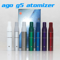 Electronic Cigarette Atomizer Red Original AGO G5 Herbal Vapor Atomizer for dry herb vaporizer pen vapor cigarettes ago G5 Pen Style Ecig Suit for Cut tobcco wax Liquid Herb