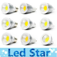 Wholesale Super bright COB GU10 Led W W W bulbs light angle dimmable E27 E26 E14 MR16 led spotlights warm pure cool white V V