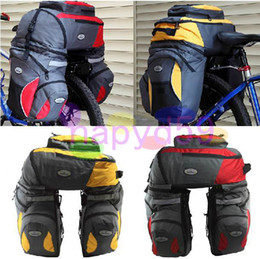 bicycle rear seat pannier bag frame pack bag mountain bicycle large shelf package bike shelf bag backpack bag travel bag free with rain