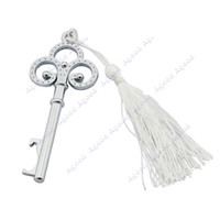 Wholesale Silver Key Shape Bottle Openers Key Ring Novelty Gift