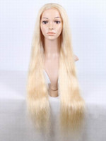 Brazilian hair sexy wig - Bleach blonde Brazilian Full Lace Wigs Remy Human Hair Sexy Hair Wig inch to inch