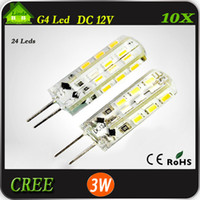 Wholesale 10pcs High Power SMD3014 W V G4 LED Lamp Replace W halogen lamp g4 led v LED Bulb lamp warranty years Freeshipping