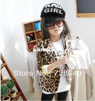 Wholesale 5 Autumn Spring Children Kids Coat Jacket Girls Blazers Leopard Outerwear Best Selling