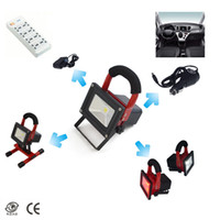Wholesale 10W Rechargeable LED FLood Light Portable Emergency kit Outdoor Work lamp IP65 Cordless High Power