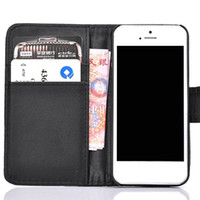 For Apple iPhone Leather White Samples Luxury Wallet PU Leather Flip Cover Case with Credit Card Slots Holder for iphone 4 4S 5 5S for samsung galaxy S3 S4 Note 2