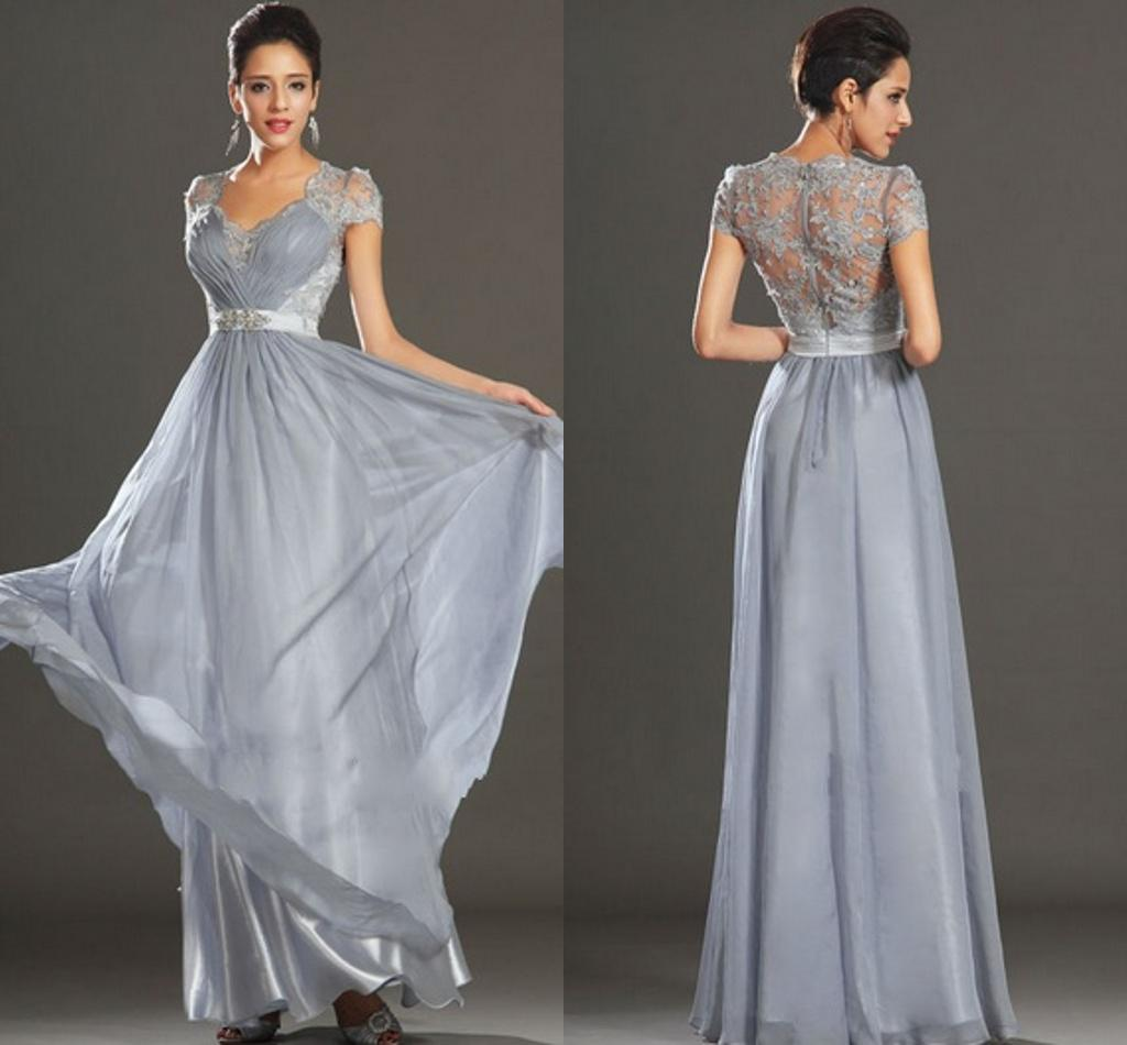 Zm Party Silver Bridesmaid Dresses 2014 Elegant A Line