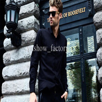 Men Cotton Long Sleeve Black Mens Long Sleeve Shirts VIISHOW Polo Long Sleeve Tops for Men Cheap Plus Size Cotton Slim Fit Mens Clothes Casual Chritmas Tops AF4208