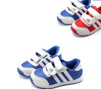 Wholesale 23 off OUTLETS Charm Blue Yellow Kids shoes Velcro baby shoes CHILDREN sport shoes boy sneakers yards china shoes pairs YY