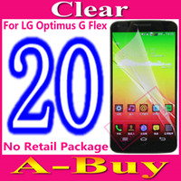 For LG Front  Clear Glossy LCD Screen Protector Cover Guard For LG Optimus G Flex D955 D958 No Retail Package,20Pcs Lot