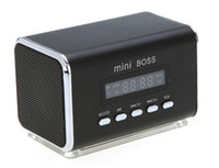 Wholesale Free DHL Portable Mini Speaker MP3 Player Amplifier Micro SD TF Card USB Disk PC Speaker with FM Radio V369S