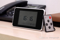 Wholesale New HD touch screen led clock camera Mini Camcorder Hidden Lens