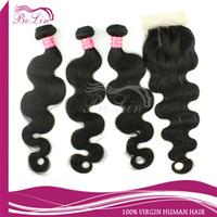 Brazilian Hair Body Wave Human Hair Bundle With Closure Bolinhair Human Hair Bundle With Closure Brazilian Virgin Hair Body Wave Lace Closure With 3pcs Hair Bundles Unprocessed Human Virgin Hair