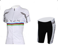 Wholesale Discount Outdoor Fitting Bodysuit Nalini Cycling Jerseys White Short Sleeve Womens Bicycle Road Clothing