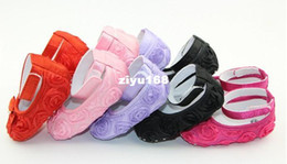 Wholesale Popular Style Year Baby Girl Floral Pattern Shoes Multi Colors Choice Soft Sole Infant First Walkers XH010