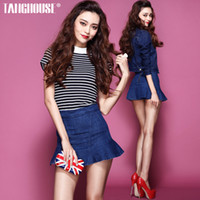 Pants Men Bootcut Tang spring 2014 women new fashion in Europe and America retro flounced high pockets hip Slim denim skirt culottes