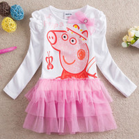 Wholesale- Free shipping Girls Peppa Pig George Pig tutu Dre...