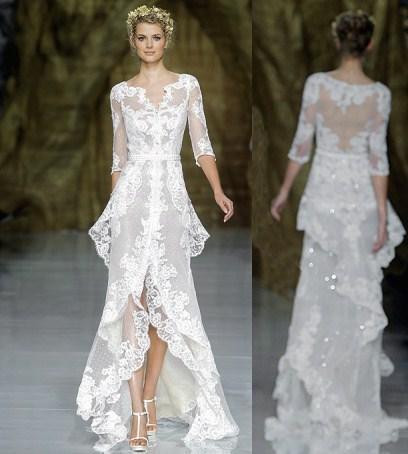 В новом сезоне дизайнеры предложат модели свадебных платьев из гипюра, легкого шантильского кружева или роскошного