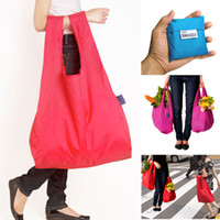 Wholesale New High quality Candy color Japan Baggu Reusable Eco Friendly Shopping Tote Bag pouch Environment Safe Go Green