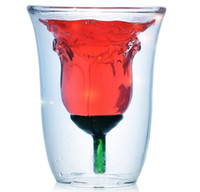 Rose Bowl wine glass - ml Valentine s Day Rose Bowl ROSE GLASS Hong ZOYO Double glazed Glass Of Red Wine Spirits Y4096B