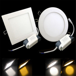 3W 4W 6W LED Recessed Ceiling Panel Down Light Bulb Lamp Square Round 85-26V LED Panel Lights New