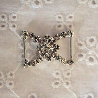 Personalized Wedding Favors diamante buckles - mm rhinestone buckles rhinestone buckles Crystal Diamante Rhinestone Buckle