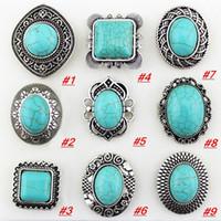 Wholesale Vintage Gemstone Rings Elegant European Rings Turquoise Rings assorted designs R052