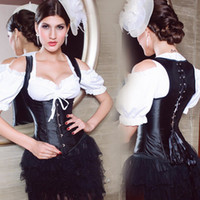 Women Corset & Bustier steel bone Plus Size Sexy Black Lace Up Satin Steel Boned Underbust Waist Cincher Corset Shaper