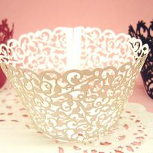 1800pcs (12pcs pack) beautiful Laser cutting Coconut palm Cupcake Wrapper Many colors white pink green blue red yellowH163