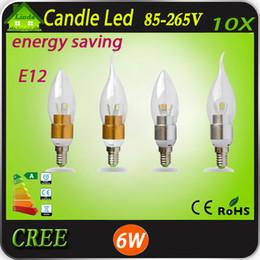 (10pcs / lot) 6W 9W 12W E12 LED E14 E27 Bougie 6pcs AC110V 220V Blanc chaud / Blanc CEROHS Livraison gratuite. à partir de e27 ce smd fournisseurs
