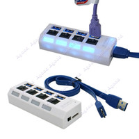 Wholesale USB Hub Ports Speed Gbps For PC Laptop With On Off Switch White