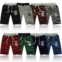 Wholesale 8Colors Hot New Men s Home Sports Shorts Household Boxer Shorts with Waist Tie Men Board Shorts Clothing