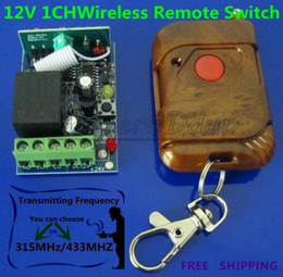 New 12V Signal Channel Multi-function Learning Wireless Remote Control Switch 433MHZ 315MHZ