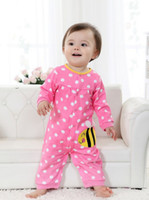 Wholesale NEW Girl s bodysuit animal pink new baby romper one piece clothing Newborn cotton jumpsuit WQ730H