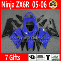 Comression Mold For Kawasaki Ninja ZX-6R ABS full fairing kit for Kawasaki Ninja fairings ZX-6R 636 ZX 6R 05 06 ZX636 blue black motobike parts ZX6R 2005 2006 VR39 +7 Gifts