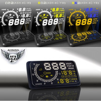 Wholesale ActiSafety LED HUD Universal Multi Car OBD II Head Up Display Inch MPH KMH