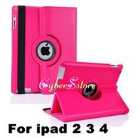 Pour ipad 3 air / air2 Pro Mini Housse en cuir 360 degrés de rotation Rotary PU Case Smart Cover pour iPad 2 4
