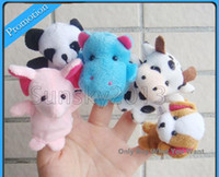 Wholesale Cute Small Animal Finger Even Hand Puppet Pack Learning Toys Random Colors Children s Day Gifts DHL