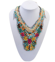 Wholesale Womens Bohemia Natural Beads Necklace Jewelry Handmade Statement Collar Necklaces Choker