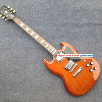 Solid Body 6 Strings Mahogany Custom SG Guitar 400 Electric Guitar IN brown Custom China Guitar New Style