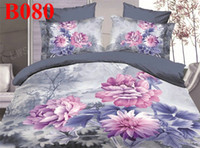 Wholesale via DHL cotton satin D white flower yellow printed livingroom bedroom bedlinen duvet cover set chrysanthemum bedding set
