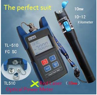 Wholesale Big Discount TL510A Optical Power Meter with FC SC ST Connector TL532 Red Laser Fiber Optic Cable Tester km