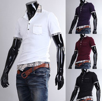 Men Cotton Polo 2013 New Items Novelty Men's Wear,Mens Polo T shirt,Sports Shirts,Slim Fit T shirts for Men,XXL 4 Colors,Drop Shipping,R876