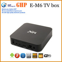 Wholesale E M6 MX Android TV Box Midnight MX2 XBMC Fully TV Killer Android XBMC Midnight Preinstalled Amlogic MXMX XBMC TV Box
