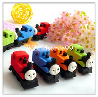 Wholesale 10x Novelty Train Shape Pencil Eraser Rubber Stationery Student Kid Gift Toy Cute
