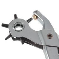 Wholesale Revolving Leather Canvas Punch Punching Plier Hole mm Multifunction hole punch pliers